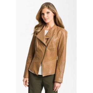Lafayette 148 NY Asymmetrical Zip Leather Jacket